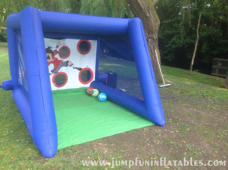 inflatable soccer shoot children games Backyard inflatable football goal cheap toys