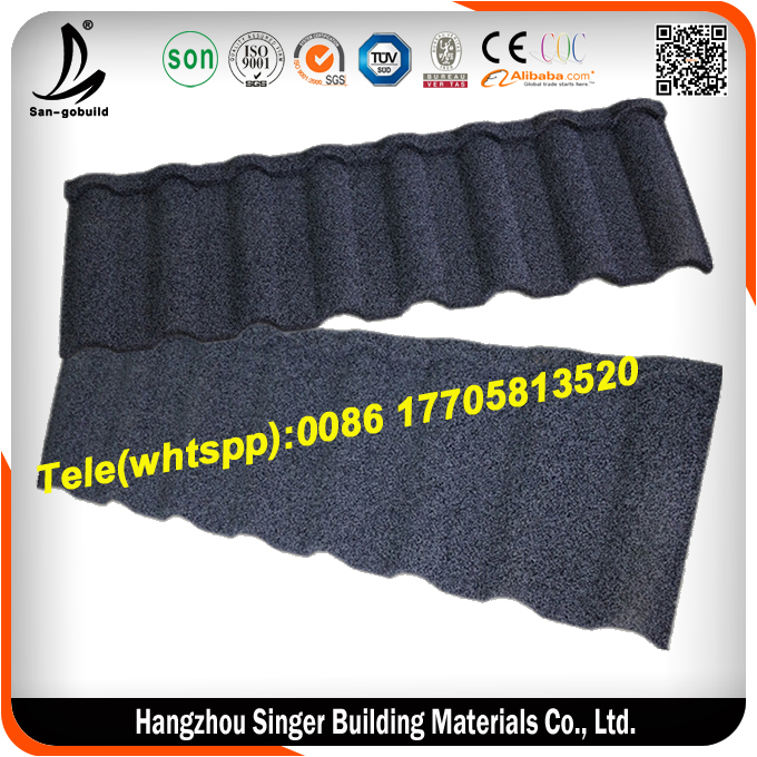 High tempreture resistant stone coated metal roof tile kerala roof tile prices 50 years warranty synthetic resin roof tile