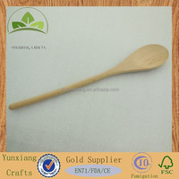 Untreated high quality beech wooden cooking spoon , wooden soup spoon , wooden muddler spoon