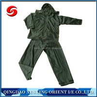 Olive Green 210D Military Raincoat