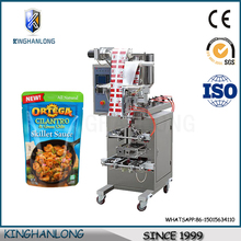 Foshan small scale injection pump retort pouch sachet sauce packing machine price