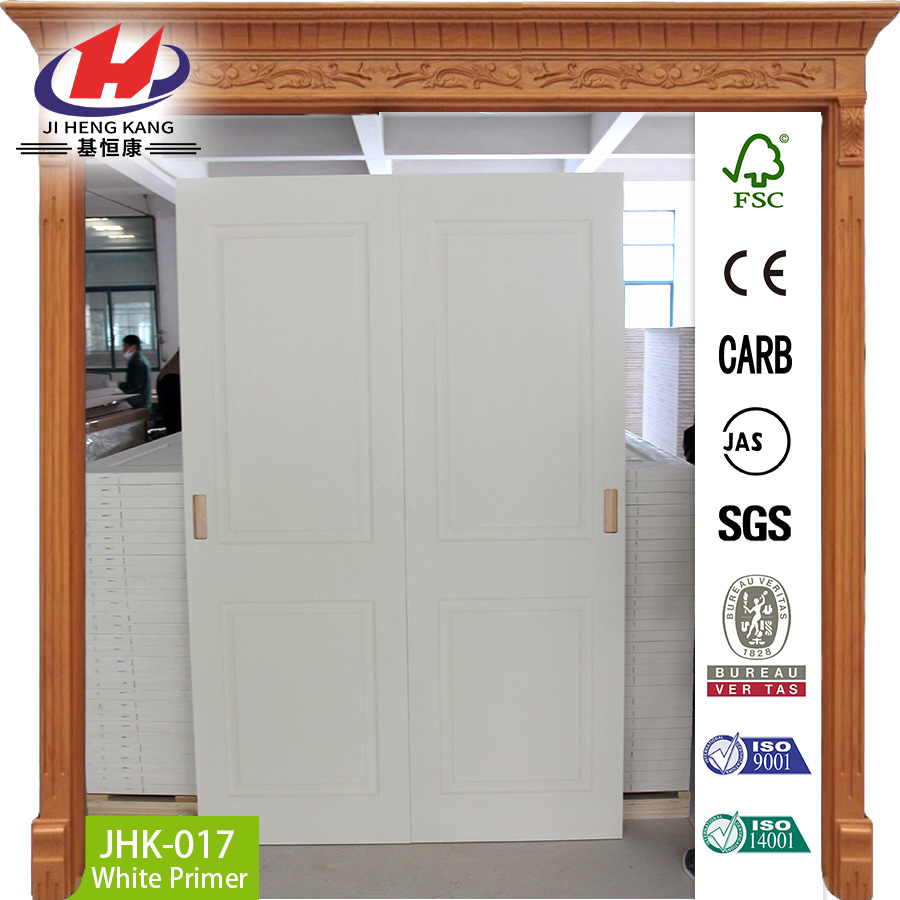 JHK-G01 Beautiful Ventilated Frosted Glass Steel Frame Interior Sliding Closet Door