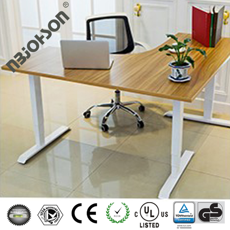 L shape electric height adjustable executive office desk