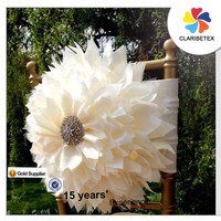 Light weight Ivory flower chair decoration for wedding