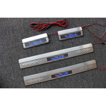 Door Sill Scuff Plate With Led For Toyota Vios Scuff Plate Light Led Door Sill Plate