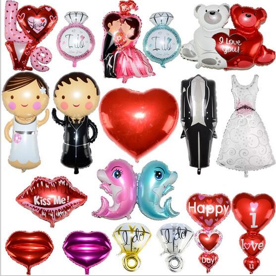 Queena Multi Design Personalized Aluminum Foil Balloon Wedding Decoration Birthday Party Balloon Decorations
