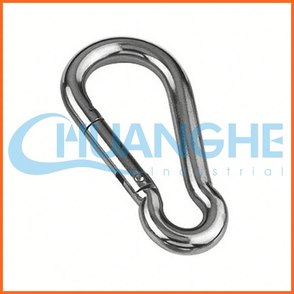 Made in china rigging hardware spring carabiner snap hook with screw