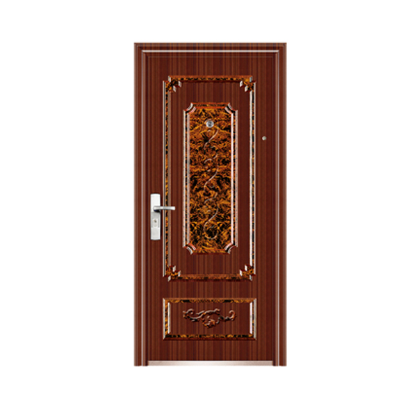 Steel security door for home decoration