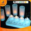 Tea light with PP cup 8pcs set LED flamless candle Rechargeable BSCI Shanhuang