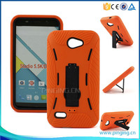 Shockproof PC Silicone hybrid combo robot kickstand case for Blu dash x