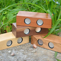 High quality factory supply wireless magic WOODEN induction speaker BAMBOO motion sensor speaker