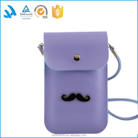 Hot sale purple leather ladies pu small shoulder bag for women