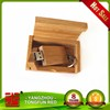 Bamboo Credit Card USB 2.0 Flash Drive with Free Laser Engraved Logo