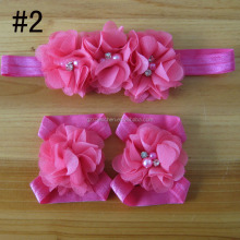 fabric flower headband for kids hair accessories, foot flower band for baby girl