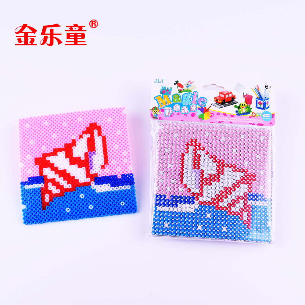 Hot selling conch mini hama perler beads for kids sea world animals diy educational toys