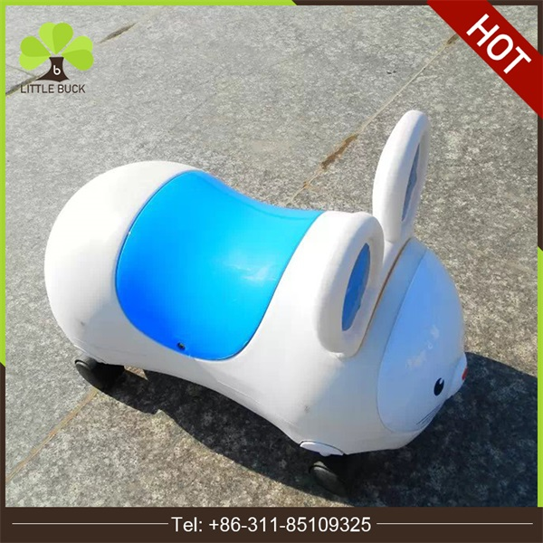 High Quality Child swing car ride on toy kids with four plastic wheels