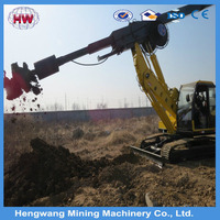 hydraulic jack-in piling earth auger solar ground hole piling machine