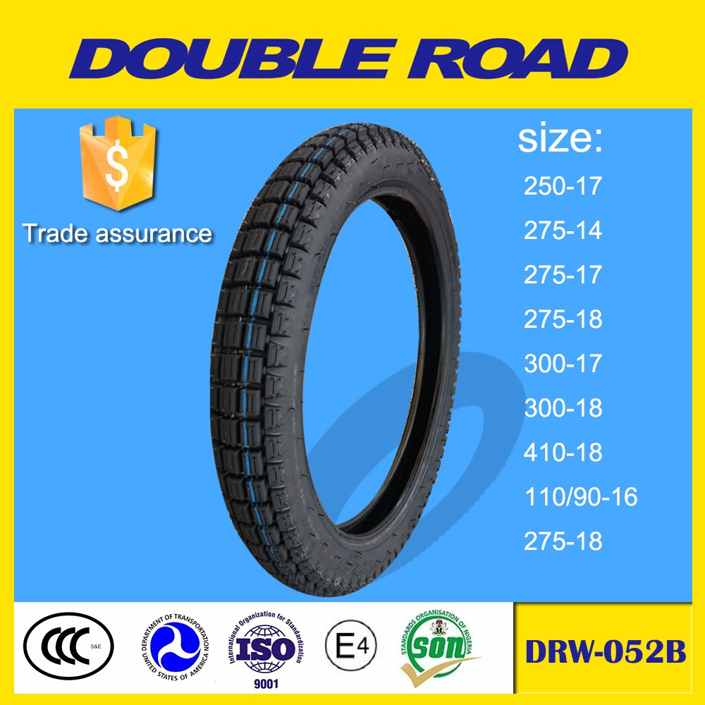 Chinese manufacturer low price export dealer colored motorcycle tire 275-14 racing