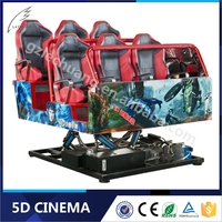 Hydraulic/Electronic Platform Interactive Gun Shooting Simulator 9-12 Seats 7d cinema