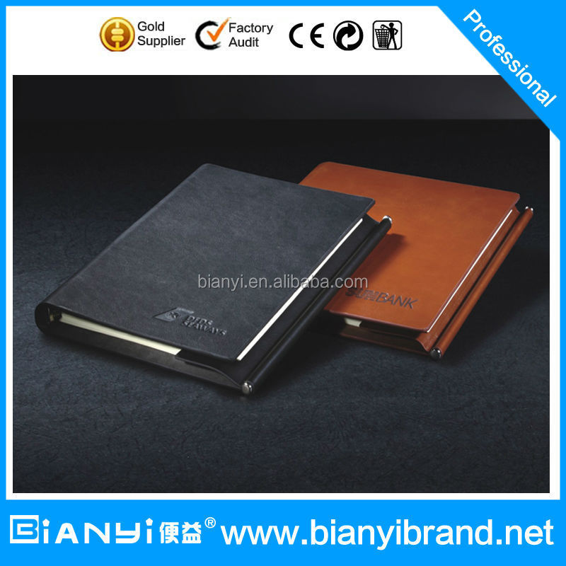 Custom 2016 leather diary, Cheap A5 pu leather notebook
