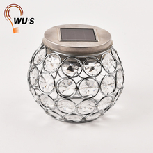 Popular for the market outdoor clear glass eco-Friendly beautiful decoration portable solar crystal garden led light