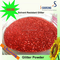 Glitter Decorative Paper With Red Mesh