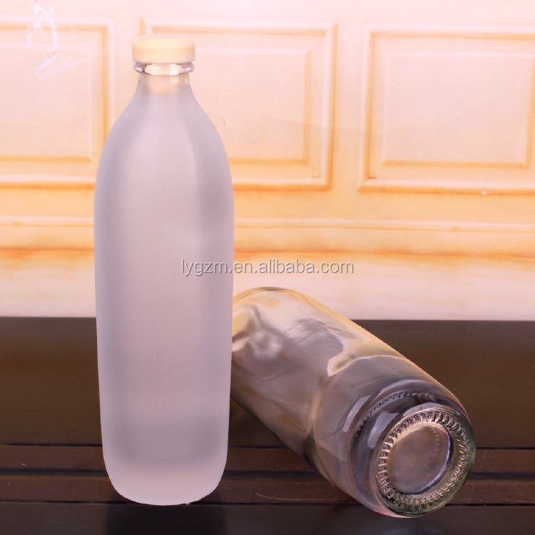 350ml 500ml Clear glass bottle milk bottle glass juice bottle with cork