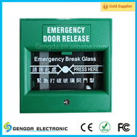 Break glass emergency exit with NO/NC/COM Output format