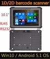 2017 Cheapest Factory 10'' industrial tablet, 2G 32GROM RJ45 RS232 rugged tablet pc with barcode scanner fingerprint reader