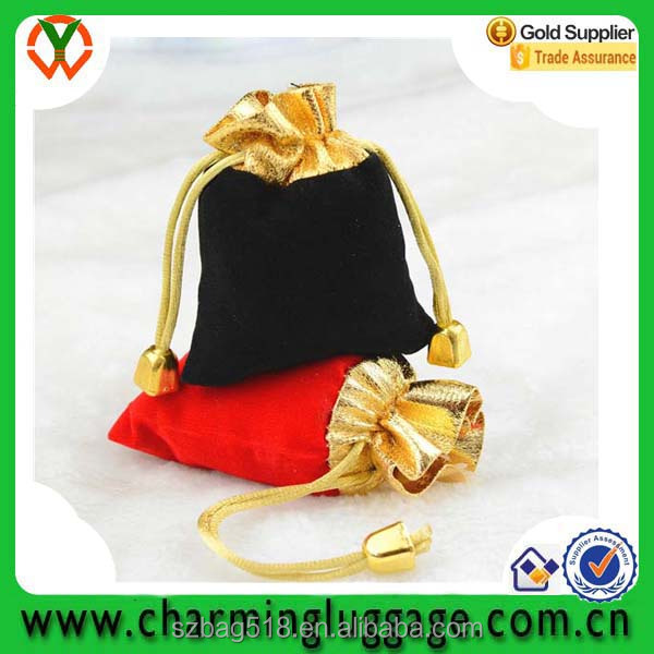 velvet small cheap drawstring promotional gift bag manufactureres wholesale