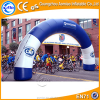Cheap PVC inflatable entrance arch, inflatable finish line for bicycle race