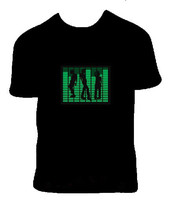 Factory price,100%catton,custom equalizer,new style music EL T-shirt