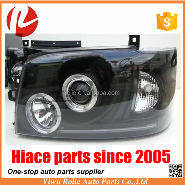 Head light (Black) Head lamp Toyota haice 05-08 model Toyota hiace spare parts