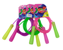 wholesale cheap PVC handle rubber skipping jump rope adjustable for kids children