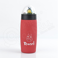 Vacuum sealed double wall 18/8 Stainless Steel thermos production custom on top of the transparent cover water bottle 300ml mug