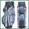 colorful ladies golf cart bag with tube