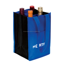 Professional image carrier bag, non woven wine bag for 6 bottles