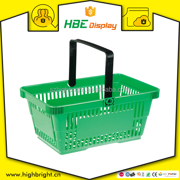 100% virgin PP single handle plastic shopping basket