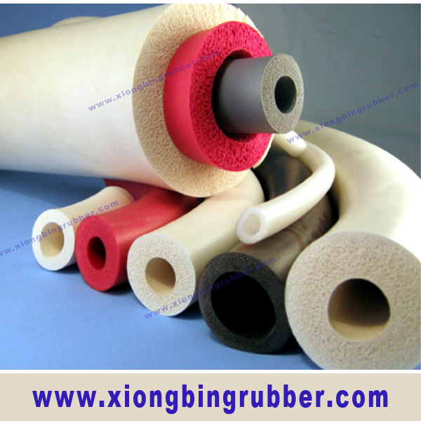 Various size soft silicone foam tube