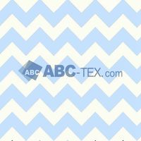 Hot Sell Zig Zag Print Minky fabric Blue and White Small MOQ