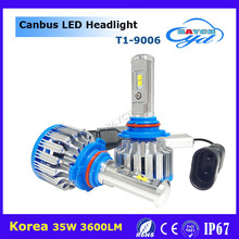 New design led headlamp T1 40W 4000LM 9007 base 6000k white waterproof auto headlight for car motorcycle truck