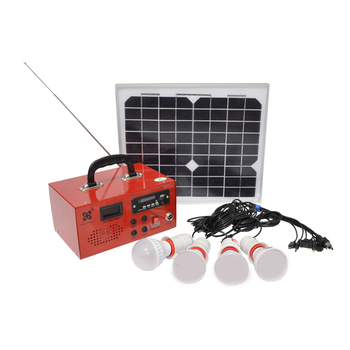 10W 12V residential solar power kit,home lighting solar power kits with radio