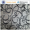 Modern strip design white velvet flock mock suede fabric