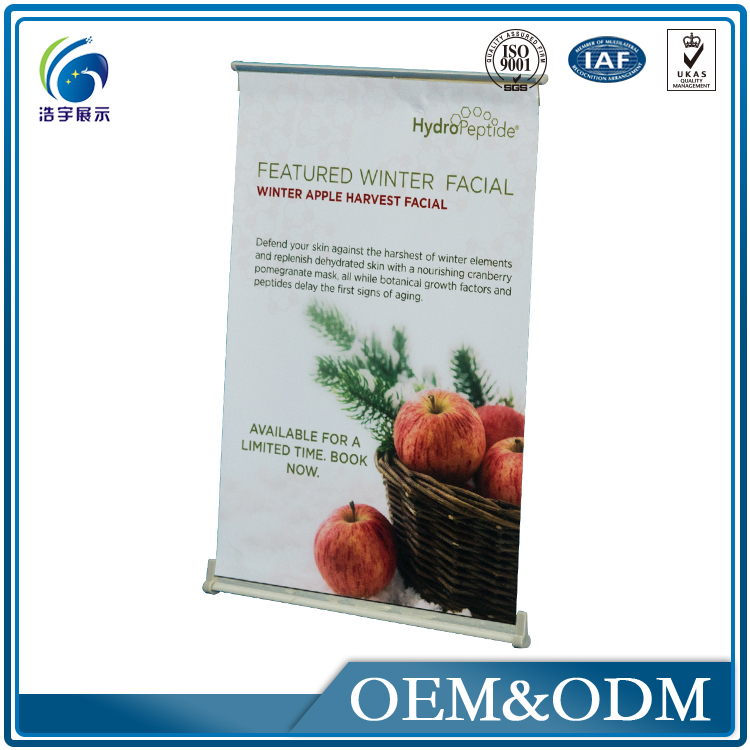 Low Price Exhibition Stand L Banner Makanan