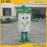 Walking outfit custom made drink cup mascot costume