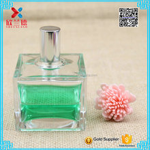 empty 100ml diamond shaped glass perfume royal bottle for men