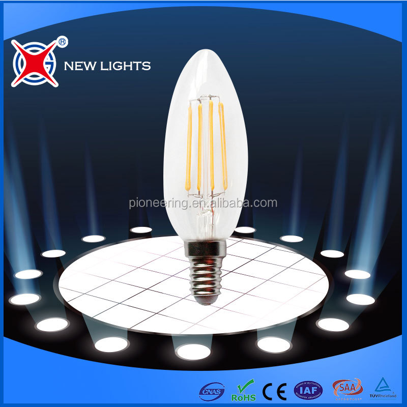 LED Light Source C35 E14/ E27 warm white led filament candle light,C35 lamp filament led bulb 2w/4w