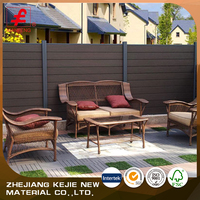 cheap wooden garden wpc fence for decoration