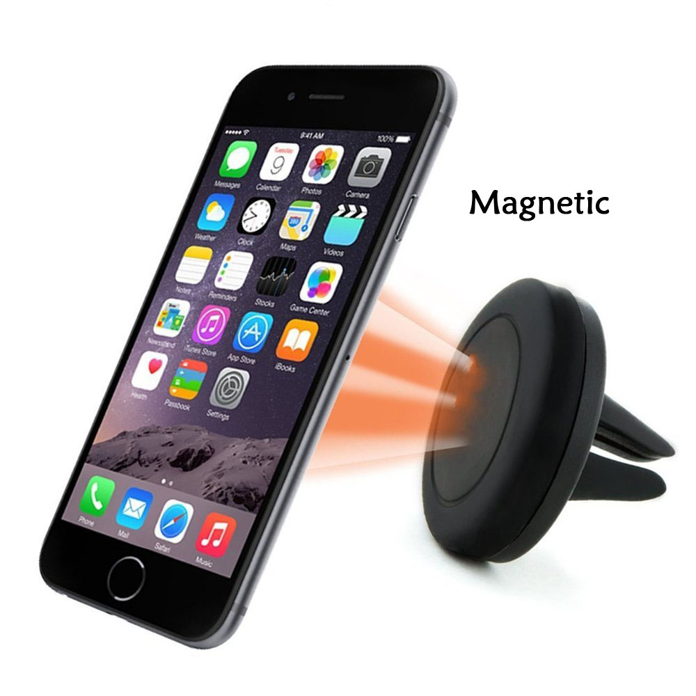 2017 Newest Factory Wholesale Universal Mini Magnetic Silicone Car Air Vent Mount mobile phone Holder