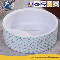High quality ceramic dog cat feeder stoneware travel pet bowl